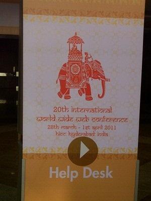 Schild auf der Konferenz<br />