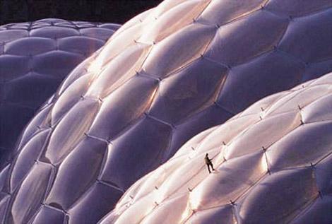 Eden Project bei St. Austell, England, Architekten: Nicholas Grimshaw & Partners, Foto: Simon Burt/APEX