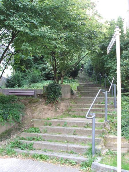 Friedrichberger Treppe von unten
