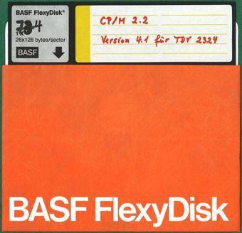 Diskette für CP/M 2.2 auf TDV 2324