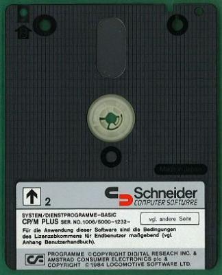 3-Zoll-Diskette mit CPM-PLUS für Schneider Joyce