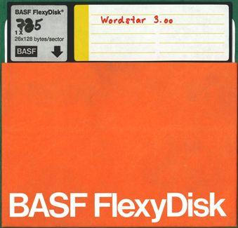8-Zoll-Diskette mit Wordstar 3.00